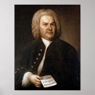 Retrato de Johann Sebastian Bach Posters