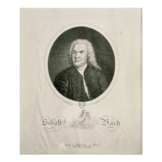 Retrato de Johann Sebastian Bach Impresiones