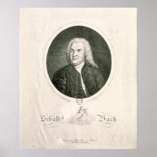 Retrato de Johann Sebastian Bach Póster