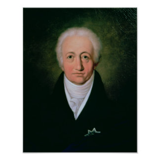Retrato de Johann Wolfgang von Goethe, 1818 Posters