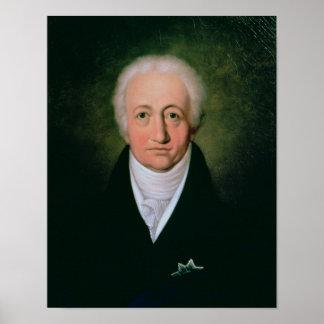 Retrato de Johann Wolfgang von Goethe, 1818 Póster