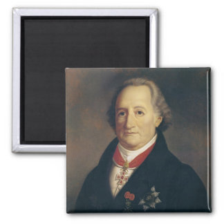 Retrato de Johann Wolfgang von Goethe Imán Cuadrado