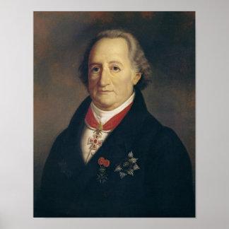 Retrato de Johann Wolfgang von Goethe Impresiones