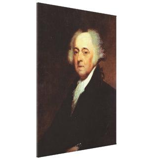 Retrato de JOHN ADAMS por Asher B. Durand Print Impresiones En Lona Estiradas