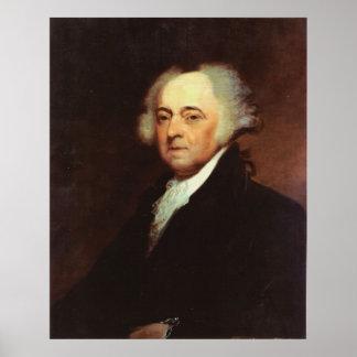Retrato de JOHN ADAMS por Asher B. Durand Print Póster