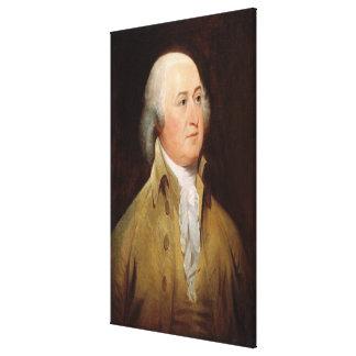Retrato de JOHN ADAMS por la impresión de Juan Tru Lona Estirada Galerías