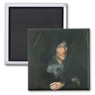 Retrato de John Donne, c.1595 Imán Cuadrado