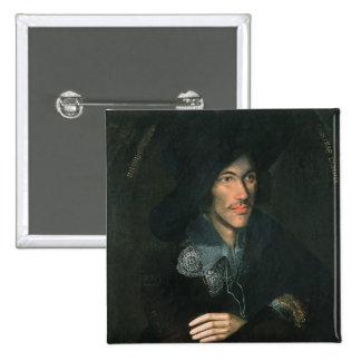 Retrato de John Donne, c.1595 Pin Cuadrado