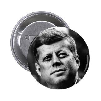 Retrato de John F. Kennedy Chapa Redonda 5 Cm