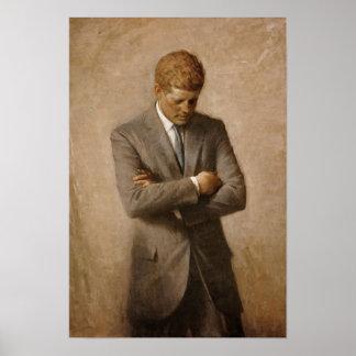 Retrato de John F. Kennedy Póster