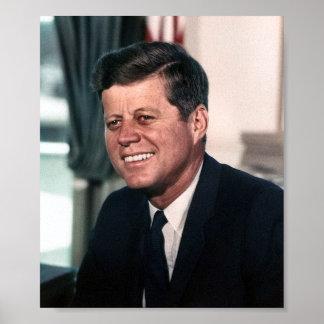 Retrato de John F. Kennedy Whitehouse Póster