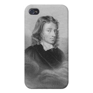 Retrato de John Milton (1608-74) grabado por iPhone 4 Carcasas