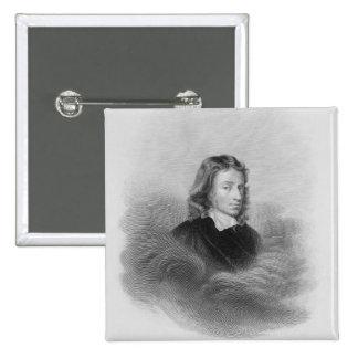 Retrato de John Milton (1608-74) grabado por Pin Cuadrado