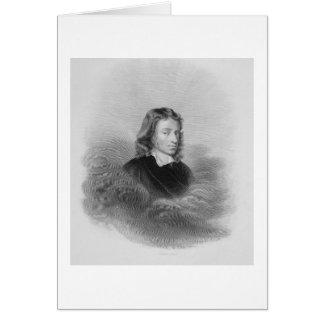 Retrato de John Milton (1608-74) grabado por Tarjeta De Felicitación