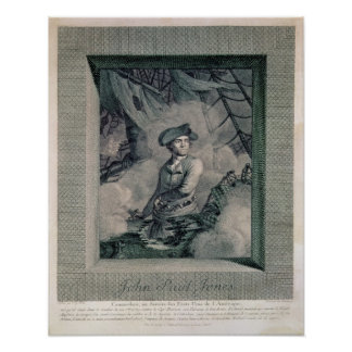 Retrato de John Paul Jones Poster