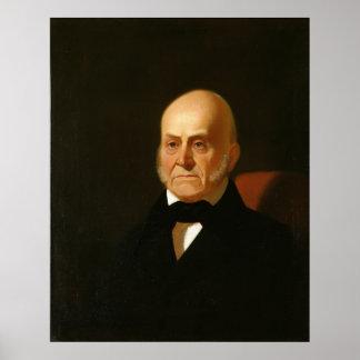 Retrato de JOHN QUINCY ADAMS de George Caleb Bingh Póster