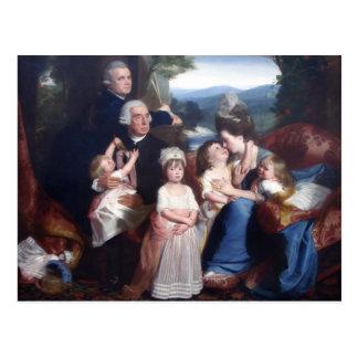 Retrato de John Singleton Copley- de Familie Cople Postales