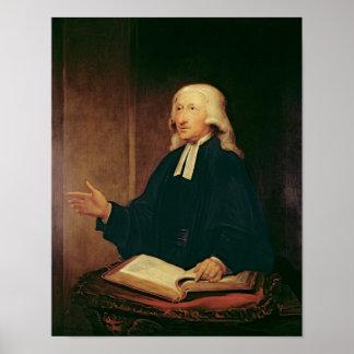 Retrato de John Wesley 1788 Posters