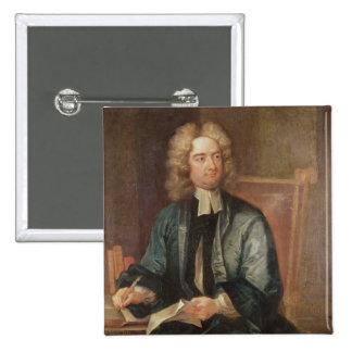 Retrato de Jonathan Swift c.1718 Pin Cuadrado