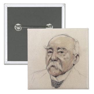 Retrato de Jorte Clemenceau Pin Cuadrada 5 Cm