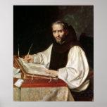 Retrato de Jose de Siguenza, anteriormente y bibli Póster
