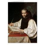 Retrato de Jose de Siguenza, anteriormente y bibli Tarjeta De Felicitación