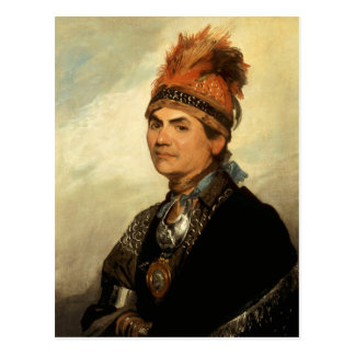 Retrato de Joseph Brant de Gilbert Estuardo Tarjetas Postales
