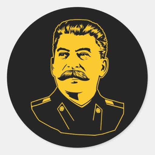 Retrato de Joseph Stalin Pegatina Redonda