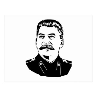 Retrato de Joseph Stalin Postal