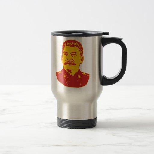Retrato de Joseph Stalin Tazas