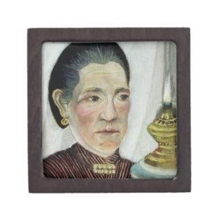 Retrato de Josephine, la esposa del artista en seg Caja De Recuerdo De Calidad