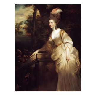 Retrato de Joshua Reynolds de Georgiana Tarjeta Postal