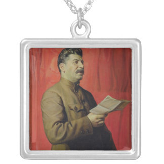 Retrato de Josif Stalin, 1933 Colgante Cuadrado