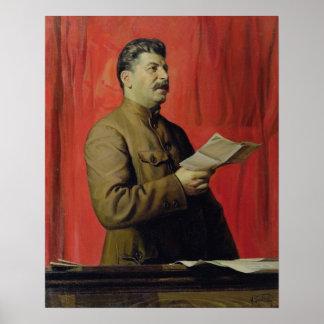 Retrato de Josif Stalin, 1933 Póster