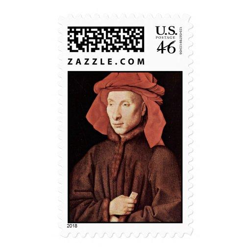 Retrato de Juan Arnolfini de Eyck enero Van (sea Franqueo
