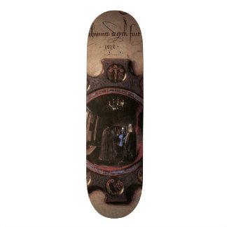 Retrato de Juan Arnolfini y esposa detalle Tabla De Skate