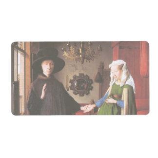 Retrato de Juan Arnolfini y su esposa Etiquetas De Envío