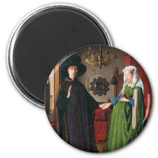 Retrato de Juan Arnolfini y su esposa Imán Redondo 5 Cm