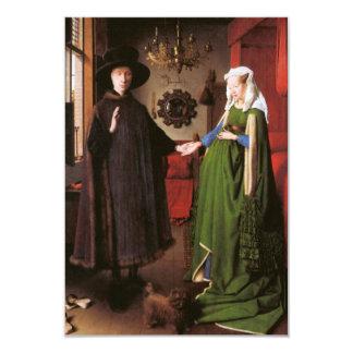 """Retrato de Juan Arnolfini y su esposa Invitación 3.5"""" X 5"""""""