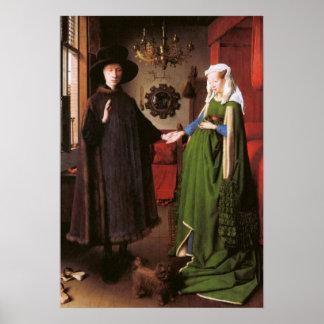Retrato de Juan Arnolfini y su esposa Póster