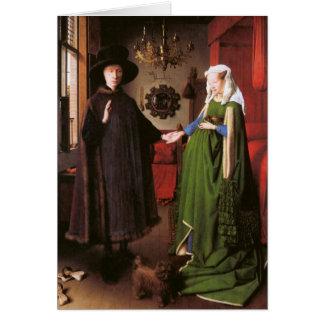 Retrato de Juan Arnolfini y su esposa Tarjeta De Felicitación