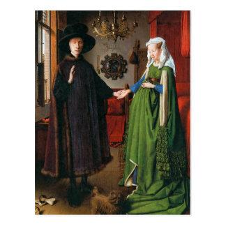 Retrato de Juan Arnolfini y su esposa Tarjeta Postal