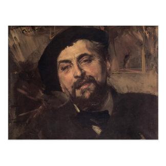 Retrato de Juan Boldini- de Ernesto Ange Duez Postal