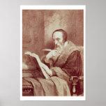 Retrato de Juan Calvino (1509-1564) (grabado) Impresiones