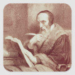 Retrato de Juan Calvino (1509-1564) (grabado) Colcomania Cuadrada