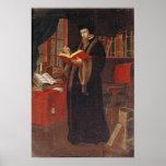 Retrato de Juan Calvino Póster