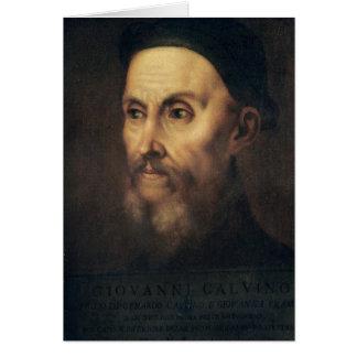 Retrato de Juan Calvino Tarjeta De Felicitación