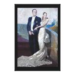 Retrato de Juan Domingo Perón y de Eva Duarte Impresión En Lona Estirada