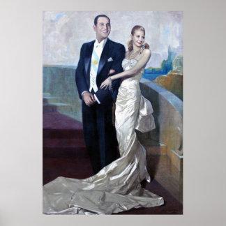 Retrato de Juan Domingo Perón y de Eva Duarte Póster