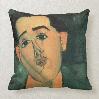 Retrato de Juan Gris (1887-1927) 1915 (el aceite Cojín